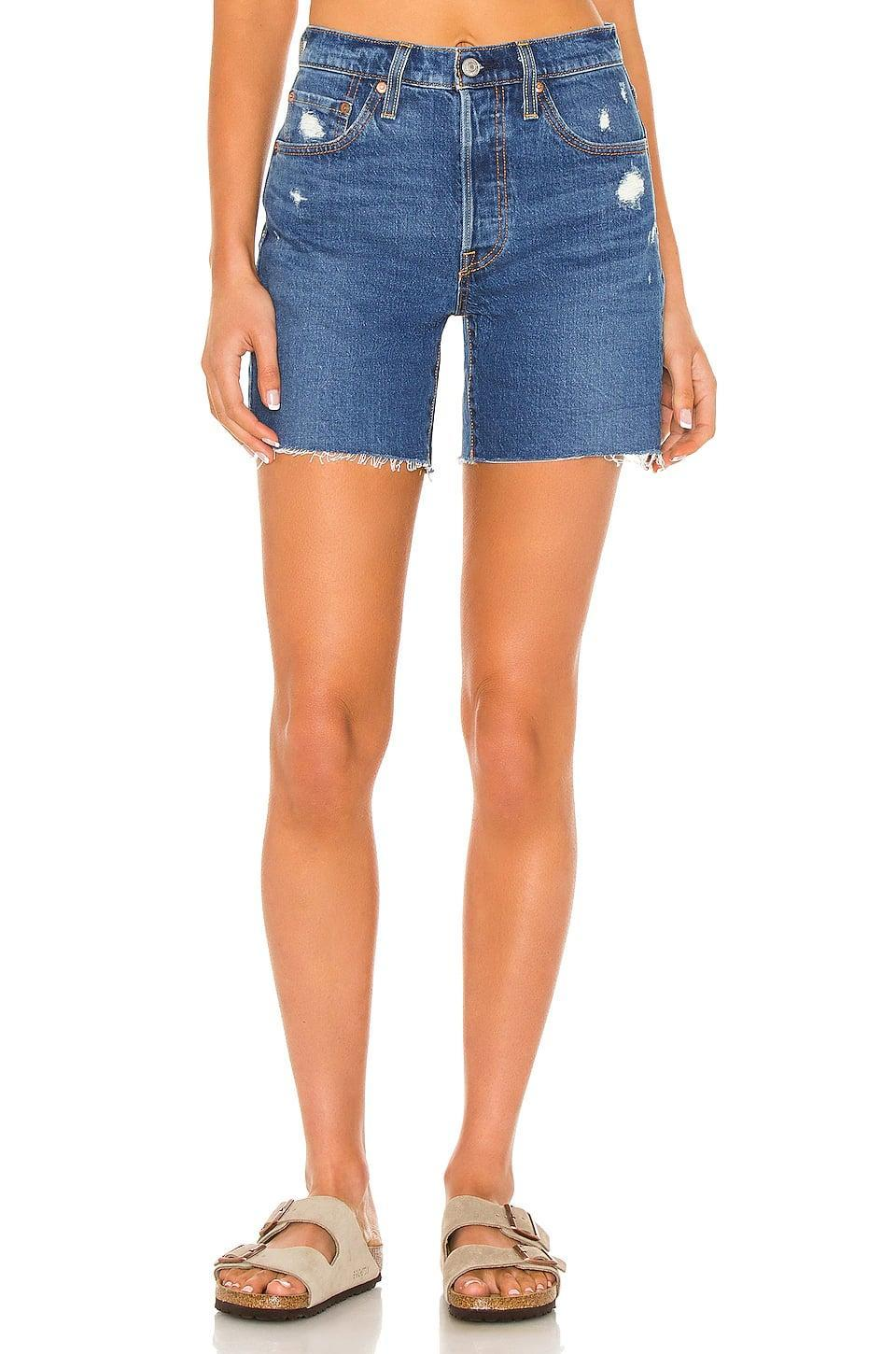 <p>If you're looking for a cool, longer denim short, these <span>Levi's 501 Mid Thigh Shorts</span> ($70) are the way to go.</p>