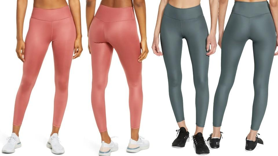 Nike One Faux Leather Mid Rise 7/8 Leggings - Nordstrom, $37 (originally $70)