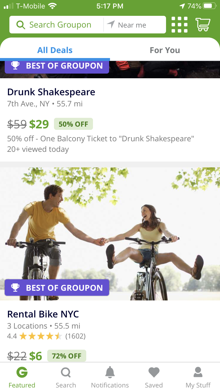 Photo credit: Groupon
