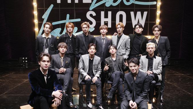 SEVENTEEN di The Late Late Show with James Corden (Twitter)