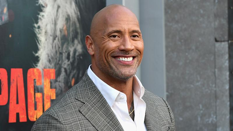 Dwayne Johnson's Girlfriend Snuggles With Adorable Daughters in Precious Pic