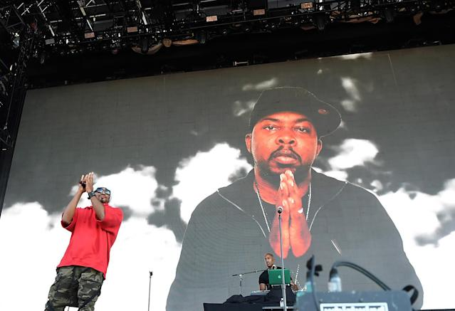 <p>Q-Tip of A Tribe Called Quest performs at 2017 Panorama Music Festival on Randall's Island in New York on July 30, 2017. (Photo by ANGELA WEISS/AFP/Getty Images) </p>