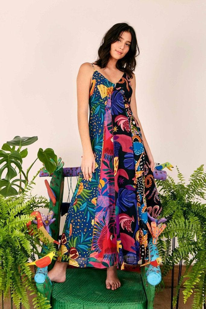 """<br><br><strong>Farm Rio</strong> Dark Mixed Prints Tiered Dress, $, available at <a href=""""https://go.skimresources.com/?id=30283X879131&url=https%3A%2F%2Fwww.farmrio.com%2Fcollections%2Fsale%2Fproducts%2Fdark-mixed-prints-tiered-dress"""" rel=""""nofollow noopener"""" target=""""_blank"""" data-ylk=""""slk:Farm Rio"""" class=""""link rapid-noclick-resp"""">Farm Rio</a>"""