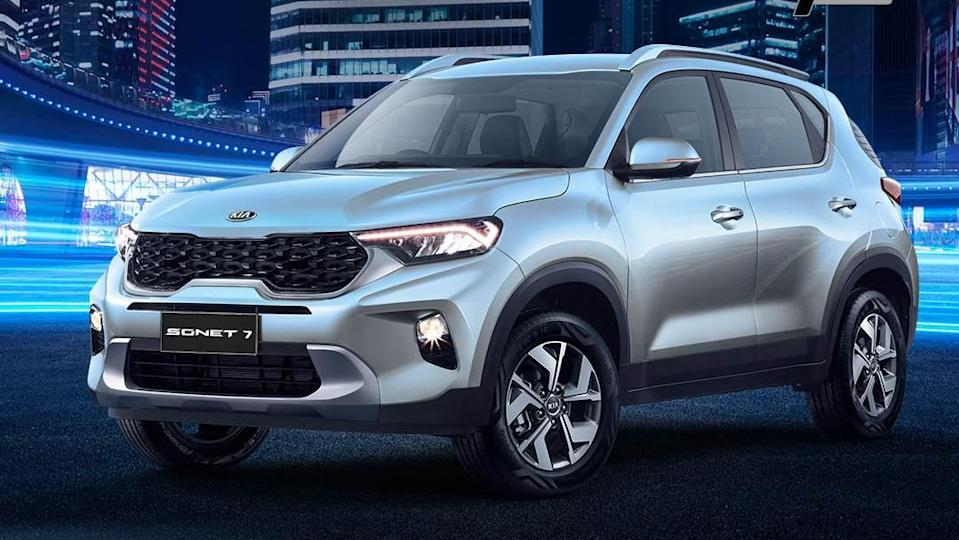 On the outside, the Kia Sonet 7 seater remains unchanged compared to the 5-seat model. Image: Kia