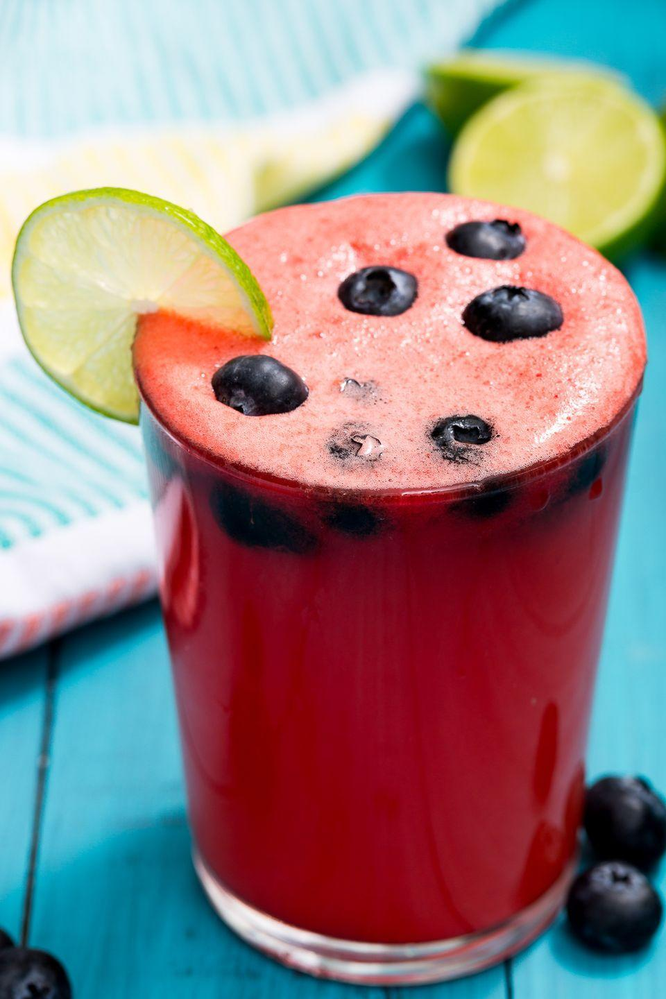 """<p>This refreshing cocktail is like a slice of watermelon in a glass.</p><p>Get the recipe from <a href=""""https://www.delish.com/cooking/recipe-ideas/recipes/a47213/watermelon-sangria-recipe/"""" rel=""""nofollow noopener"""" target=""""_blank"""" data-ylk=""""slk:Delish"""" class=""""link rapid-noclick-resp"""">Delish</a>.</p>"""