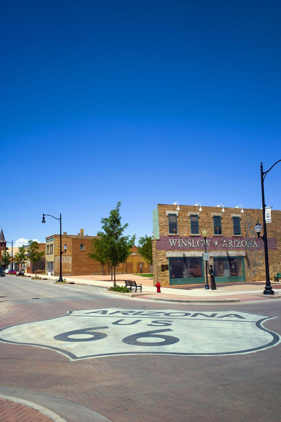 <p>Love the nostalgic feel of any spots along the famed Route 66, and with Winslow, Arizona, you'll get the added bonus of singing the famous Eagles song as you stroll by. </p>
