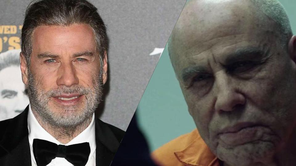 <p>Hirsute Travolta stuck on a bald-cap to play the titular John Gotti in <em>Gotti</em>. </p>