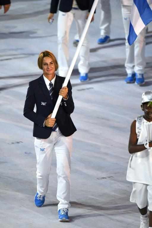At Rio 2016 Bekatorou became the first woman to carry the Greek flag at the opening ceremony of the Olympic Games