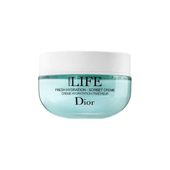 "<p>Dior Hydra Life Fresh Hydration Sorbet Crème, $69, <a rel=""nofollow"" href=""http://www.dior.com/beauty/en_us/fragrance-beauty/skincare/the-collections/dior-hydra-life/pr-diorhydralife-y0692530-fresh-hydration-sorbet-creme.html?mbid=synd_yahoobeauty"">dior.com</a></p><p>WHO: This is best for someone looking to relieve dryness and plump up their skin. WHAT: A gel-cream based moisturizer that helps to nourish skin leaving you with a radiant glow. WHERE: Use it on your face and neck and décolleté. WHEN: Gentle enough for morning and evening use. Apply to a clean face, after your essence. WHY: Infused with french mallow flower and haberlea leaf to help with long lasting hydration and restoring your skin's moisturizing ability.</p>"