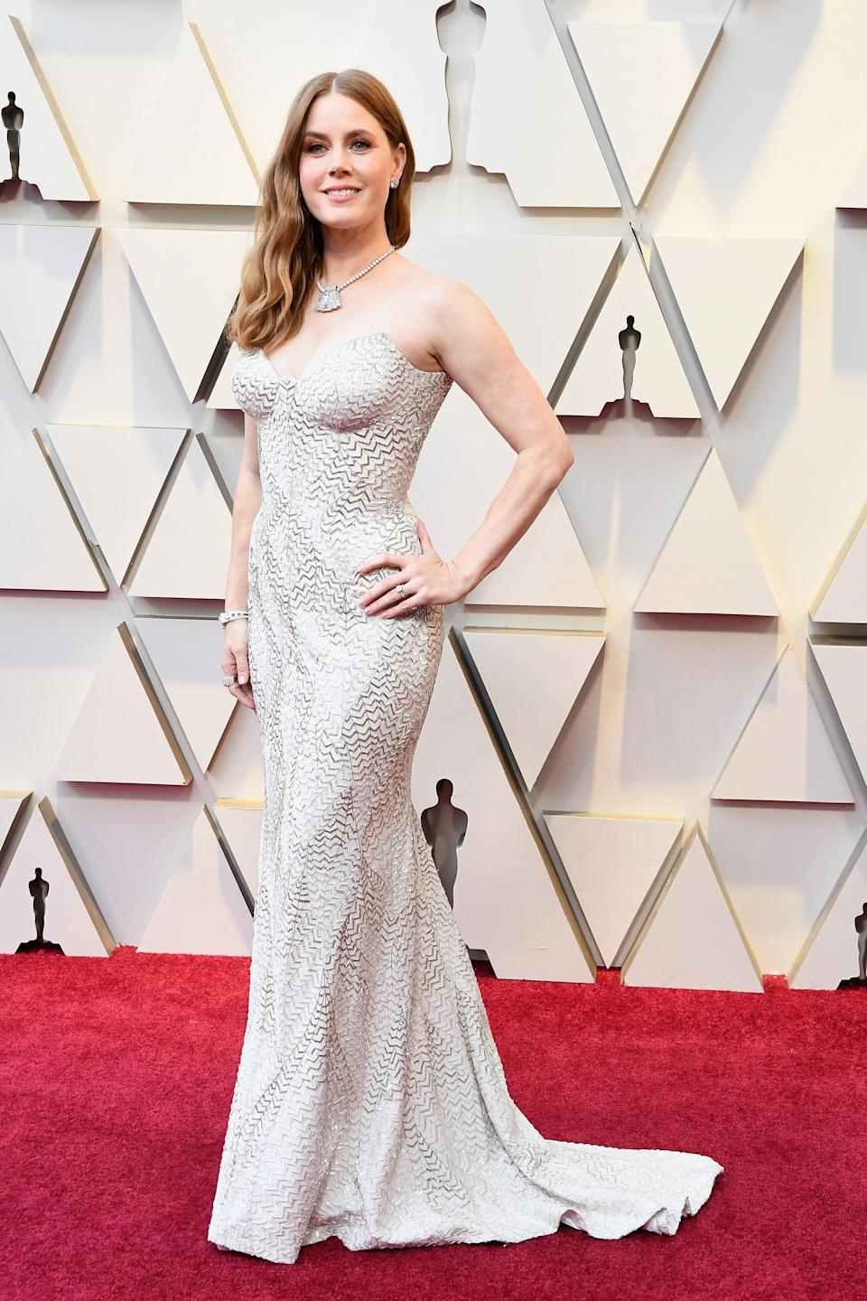<p>Wearing an Atelier Versace gown with Christian Louboutin shoes and Cartier jewels.</p>