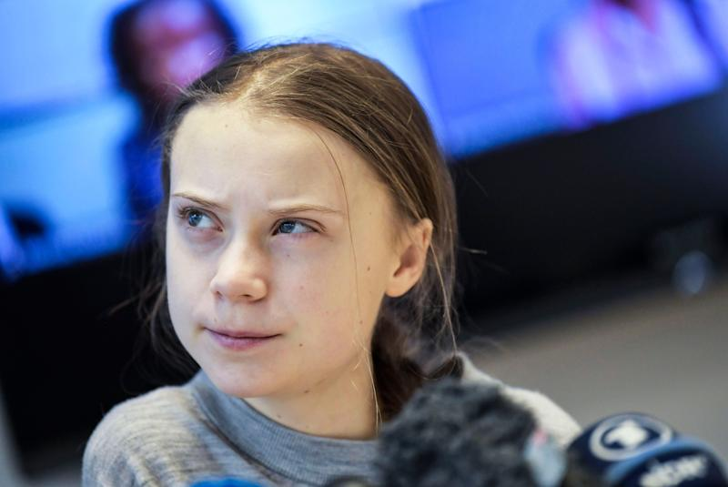 Swedish climate activist Greta Thunberg gives a press conference in Stockholm on Jan. 31, 2020. (Photo: PONTUS LUNDAHL/Getty Images)