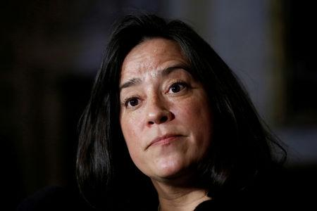 FILE PHOTO: Canada's Justice Minister Jody Wilson-Raybould listens to a question during a news conference on Parliament Hill in Ottawa, Ontario, Canada, December 12, 2017. REUTERS/Chris Wattie/File Photo