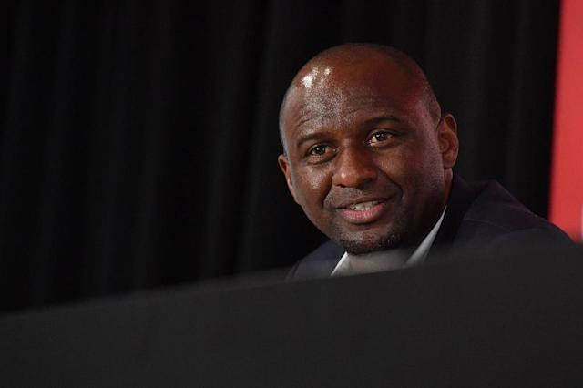 French former France, Inter Milan and Arsenal star Patrick Vieira gave his first press conference as Nice manager on Monday (AFP Photo/YANN COATSALIOU)