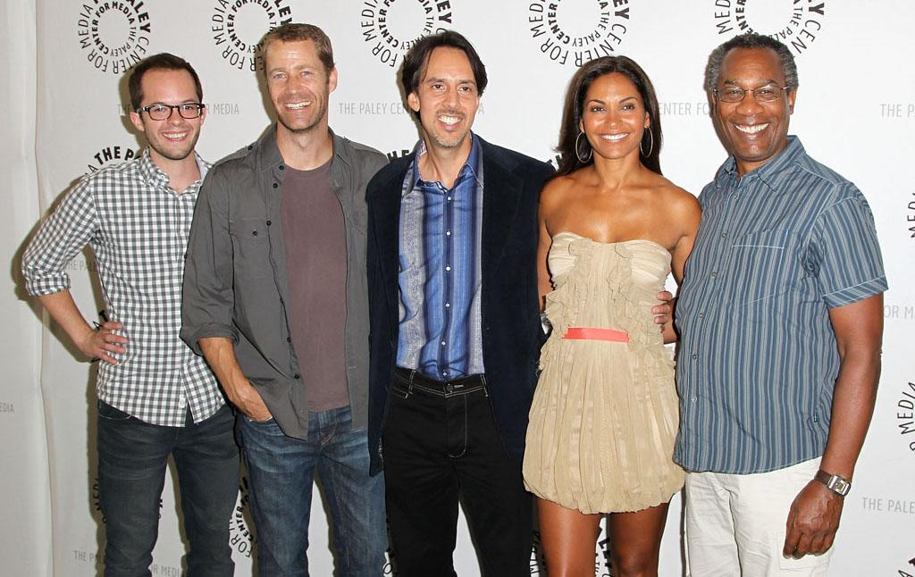"Neil Grayston, Colin Ferguson, Jaime Paglia, Salli Richardson-Whitfield and Joe Morton attend the The Paley Center For Media Presents An Evening With Syfy's ""Eureka"" at The Paley Center for Media on July 9, 2012 in Beverly Hills, California."