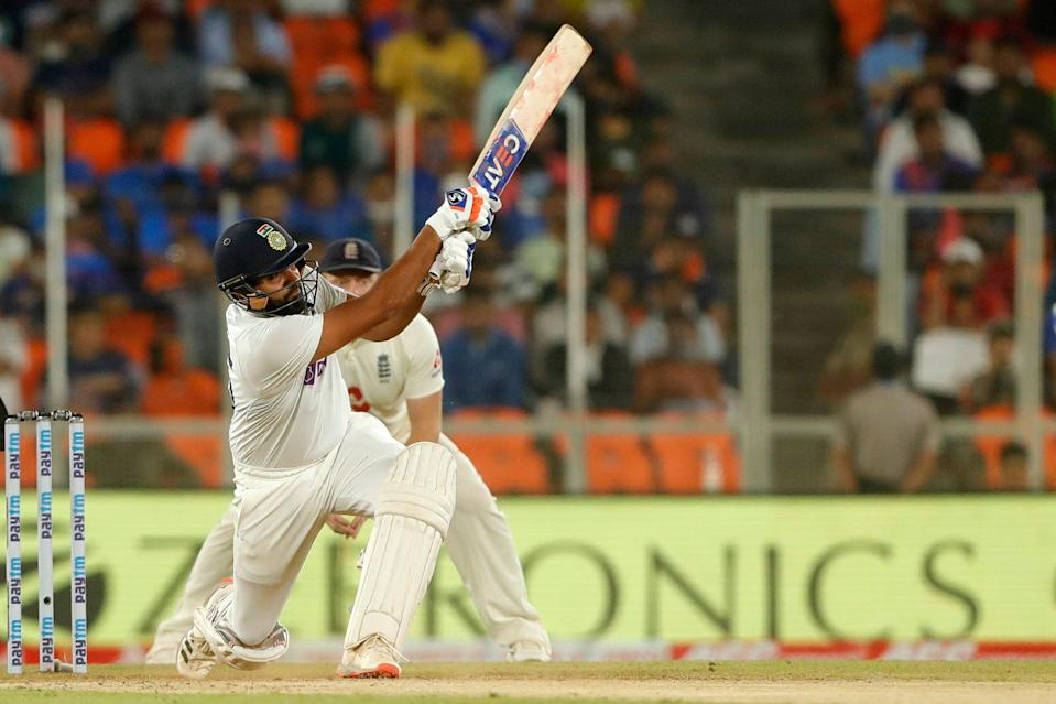 Rohit Sharma scoring a boundary on India's route to victory (ECB)