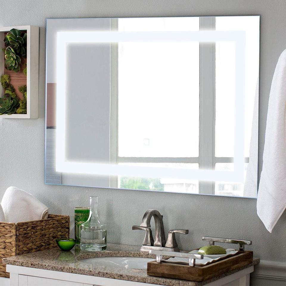 """<p>Instantly upgrade your bathroom with this <a href=""""https://www.popsugar.com/buy/Costway-275-LED-Wall-Mounted-React-Mirror-408641?p_name=Costway%2027.5%22%20LED%20Wall-Mounted%20React%20Mirror&retailer=walmart.com&pid=408641&price=83&evar1=geek%3Aus&evar9=36026397&evar98=https%3A%2F%2Fwww.popsugar.com%2Ftech%2Fphoto-gallery%2F36026397%2Fimage%2F45754632%2FCostway-275-LED-Wall-Mounted-React-Mirror&list1=shopping%2Cgifts%2Cgadgets%2Cgift%20guide%2Cdigital%20life%2Cwalmart%2Ctech%20gifts%2Cgifts%20for%20men%2Chome%20shopping&prop13=mobile&pdata=1"""" class=""""link rapid-noclick-resp"""" rel=""""nofollow noopener"""" target=""""_blank"""" data-ylk=""""slk:Costway 27.5&quot; LED Wall-Mounted React Mirror"""">Costway 27.5"""" LED Wall-Mounted React Mirror</a> ($83).</p>"""
