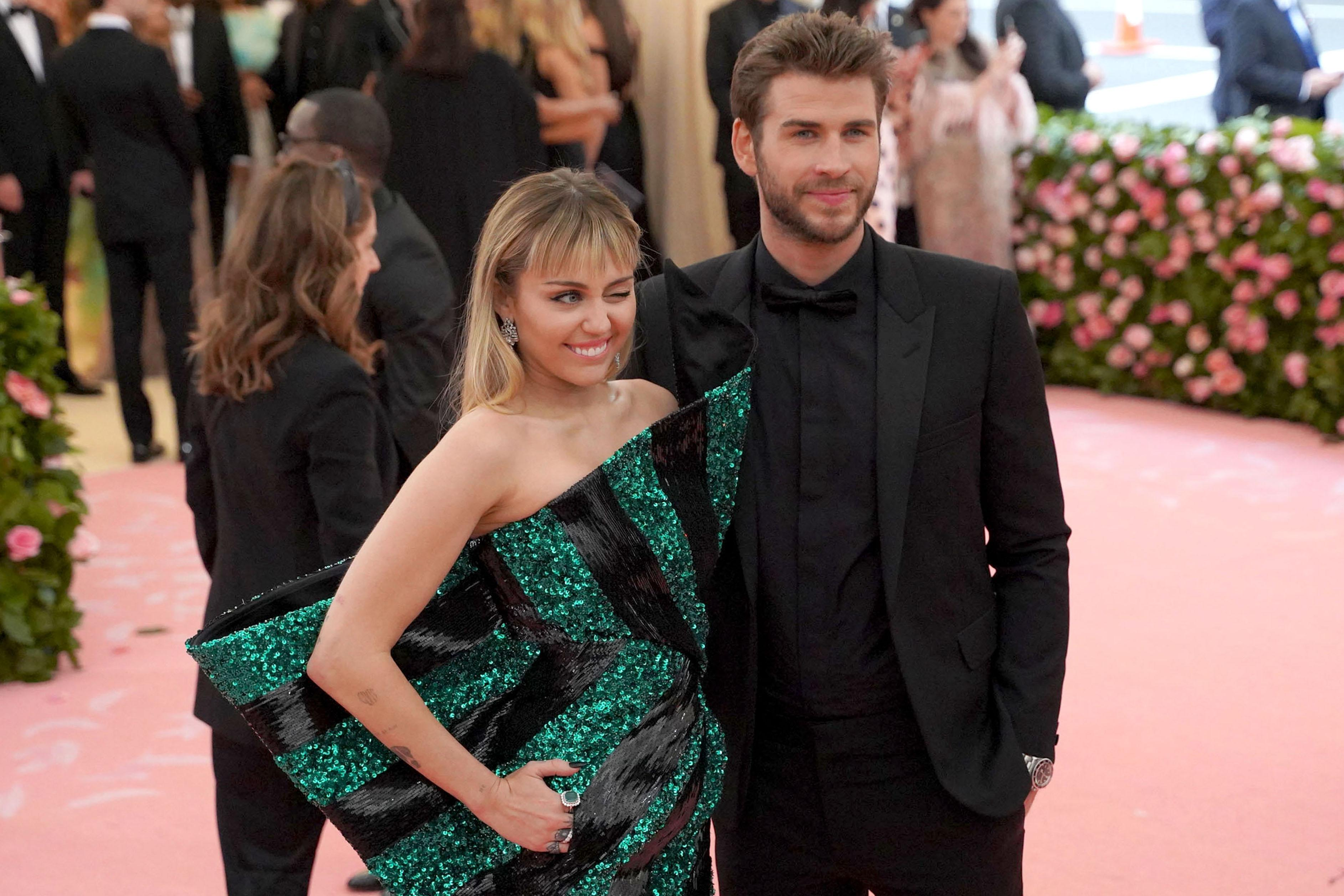 Miley Cyrus and Liam Hemsworth attend The Metropolitan Museum Of Art's 2019 Costume Institute Benefit