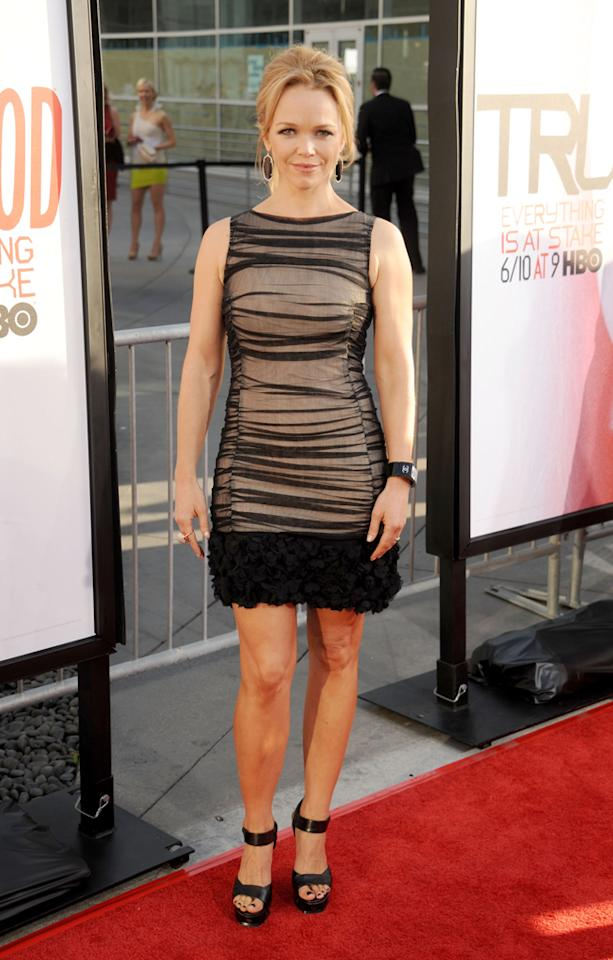 """Lauren Bowles attends HBO's """"True Blood"""" Season 5 Los Angeles premiere at ArcLight Cinemas Cinerama Dome on May 30, 2012 in Hollywood, California."""
