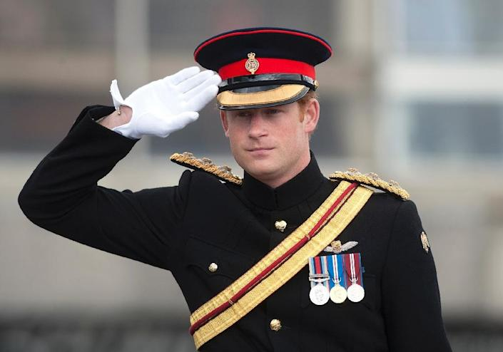 Prince Harry has announced he is to leave the British army after 10 years' service that has seen him fight twice on the front line in Afghanistan (AFP Photo/Eddie Mulholland)