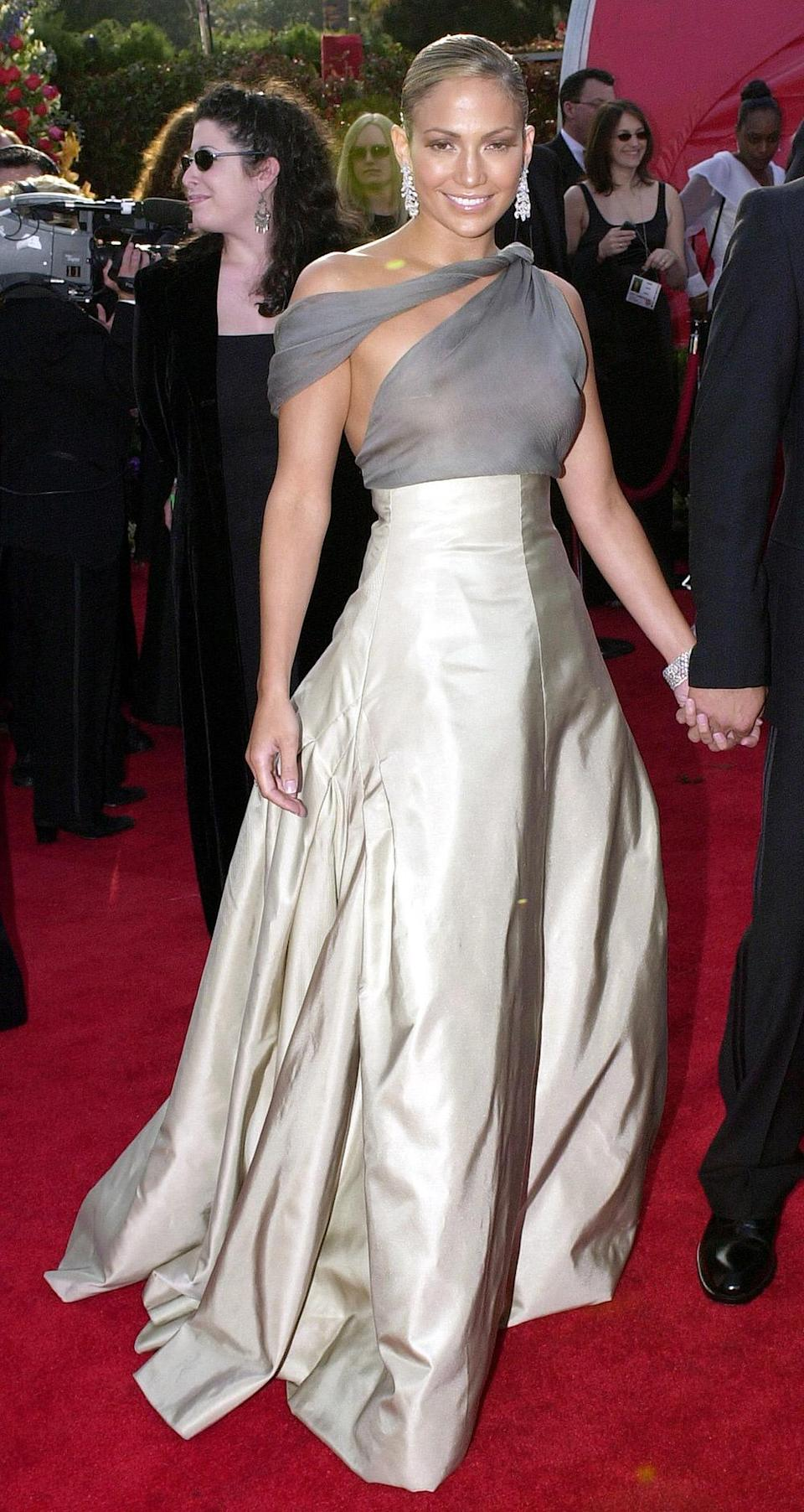 <p>Speaking of memorable dresses, Jennifer Lopez made waves when she arrived in a semi-sheer dress by Chanel Haute Couture. </p>