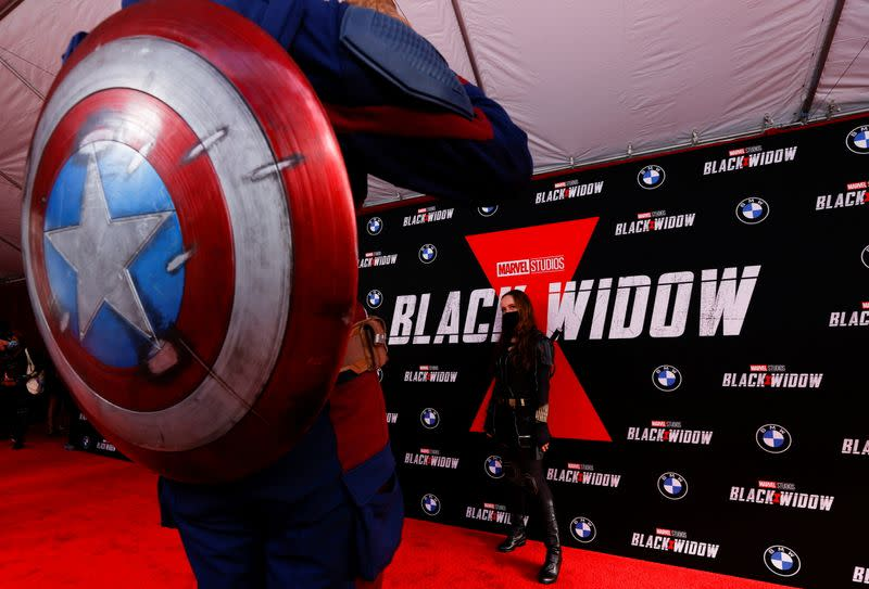 """FILE PHOTO: Fan event and special screening of the film """"Black Widow"""" in Los Angeles"""