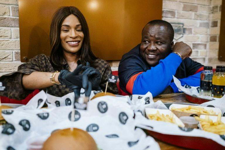 Cameroonian entrepreneur couple Walter and Cindy Tchassem are at the centre of a music and restaurant business empire in Russia (AFP Photo/Dimitar DILKOFF)
