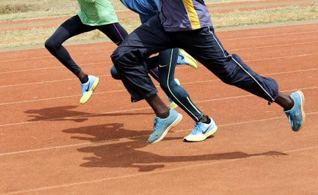 FILE PHOTO: File photo of Kenya's athletes running during a training session in Nairobi