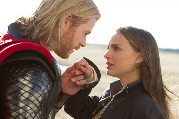 Hemsworth and Portman in Thor (Credit: Paramount)