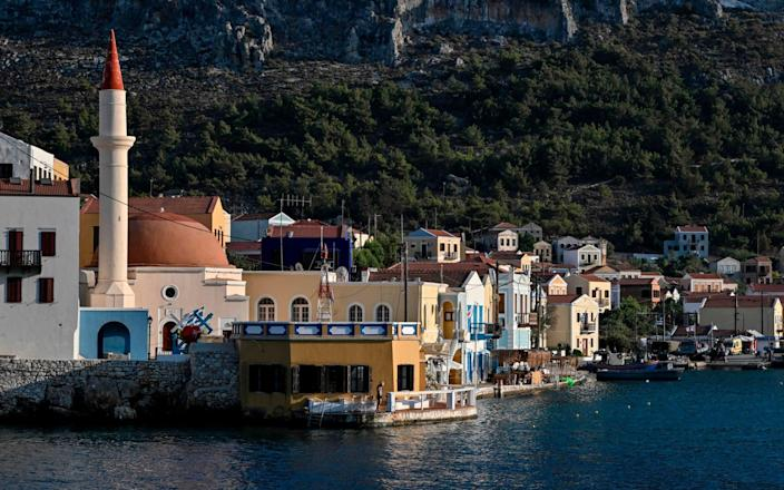 Kastellorizo is one of the islands where vaccinations have been administered - LOUISA GOULIAMAKI/AFP