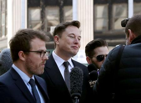 FILE PHOTO: Tesla CEO Elon Musk arrives at Manhattan federal court