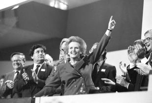 Thatcher receives standing ovation at Conservative Party Conference in October 1989. REUTERS/Stringer/Files