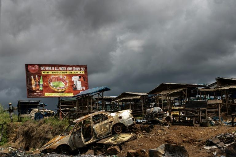 Troubled region: Aftermath of an attack in Buea on October 3 2018 that the authorities attributed to separatists (AFP/MARCO LONGARI)
