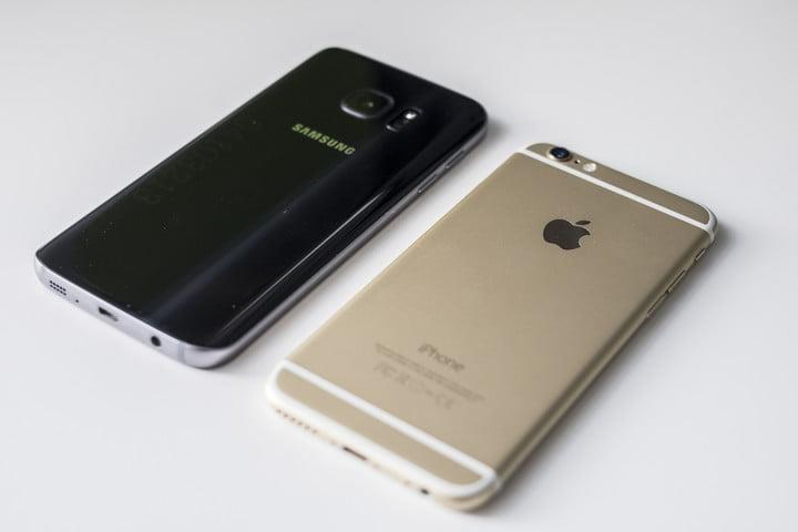 Samsung Galaxy S7 and iPhone 6