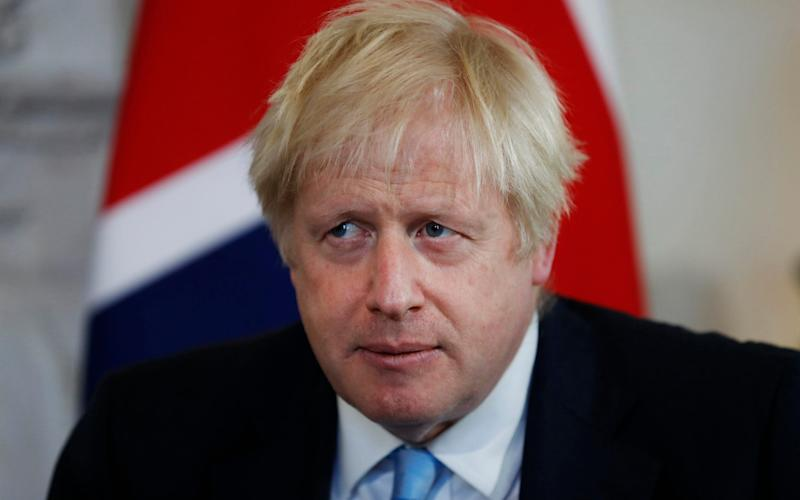 Boris Johnsonpulled out of a press conference with the Luxembourg Prime Minister on Monday - AP Pool