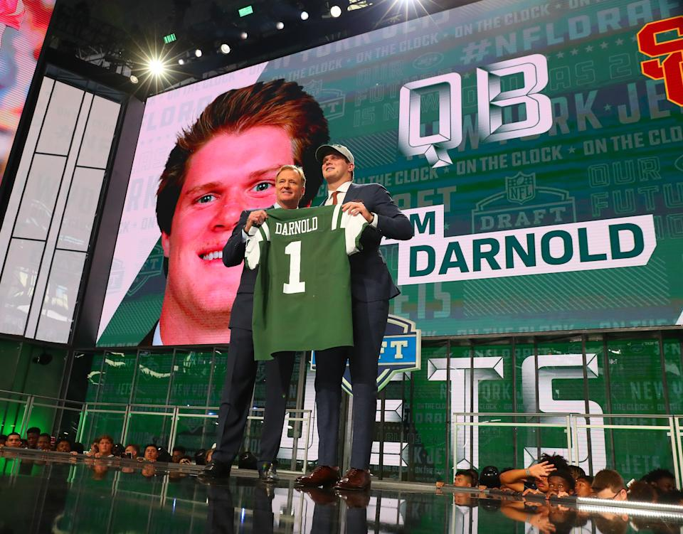 The Sam Darnold trade from the 2018 draft is a reminder that teams will pay premiums for quarterbacks. (Photo by Rich Graessle/Icon Sportswire via Getty Images)