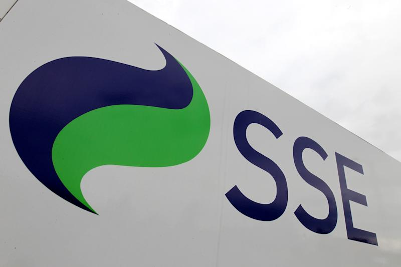 File photo dated 21/7/2011 of a sign for SSE. The energy giant is in discussions with Ovo Group over the possible sale of its struggling energy services business.