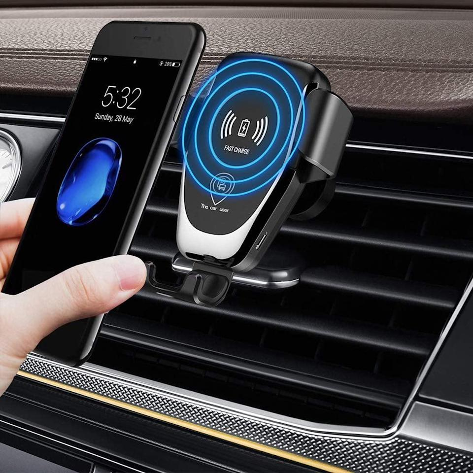 <p>Go wireless with this useful <span>Aukiss Wireless Charger Car Mount</span> ($29).</p>
