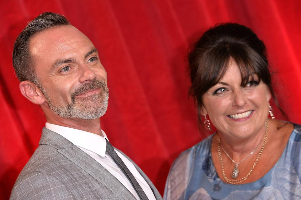 MANCHESTER, ENGLAND - JUNE 03:  (L-R) Daniel Brocklebank and Tracy Brocklebank attend The British Soap Awards at The Lowry Theatre on June 3, 2017 in Manchester, England. The Soap Awards will be aired on June 6 on ITV at 8pm.  (Photo by Jeff Spicer/Getty Images)