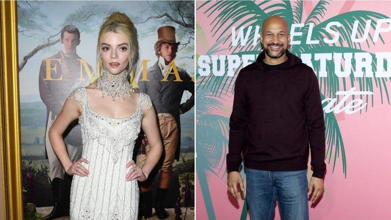 Anya Taylor-Joy (Jon Kopaloff, Getty Images) / Keegan-Michael Key ( Robin Marchant/Getty Images for Wheels Up)