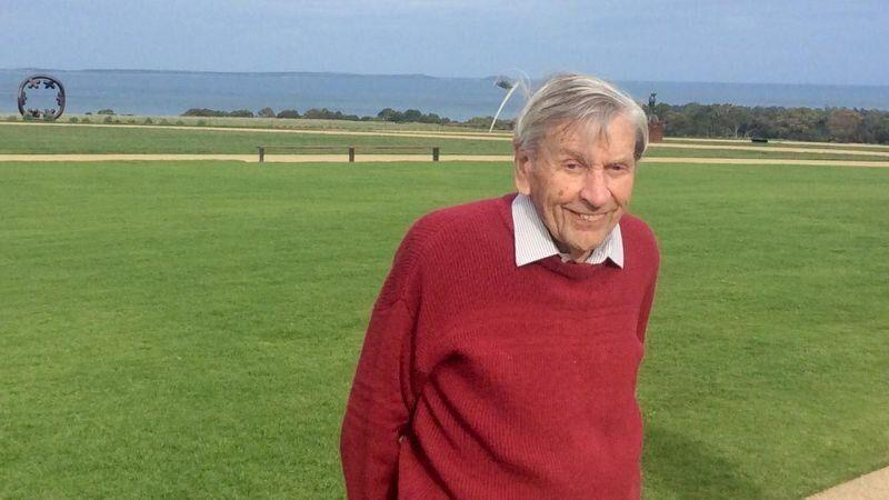 Ronald McMaster, 95, pictured in a photograph released by Victoria Police.