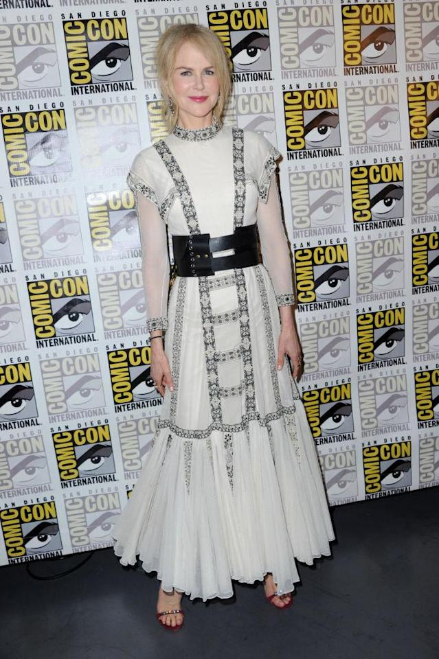 Nicole Kidman wears a Dior Resort 2019 dress to panel during Comic-Con International 2018 in San Diego, Calif., July 21, 2018. (Photo: Albert L. Ortega/Getty Images)