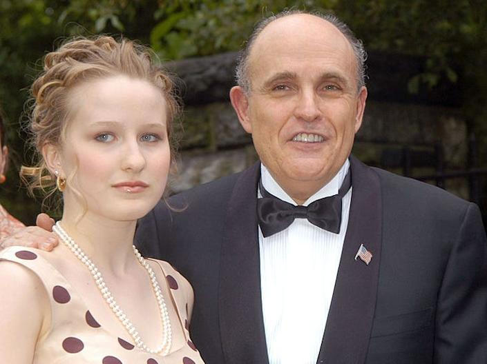 GettyImages rudy giuliani with daughter caroline