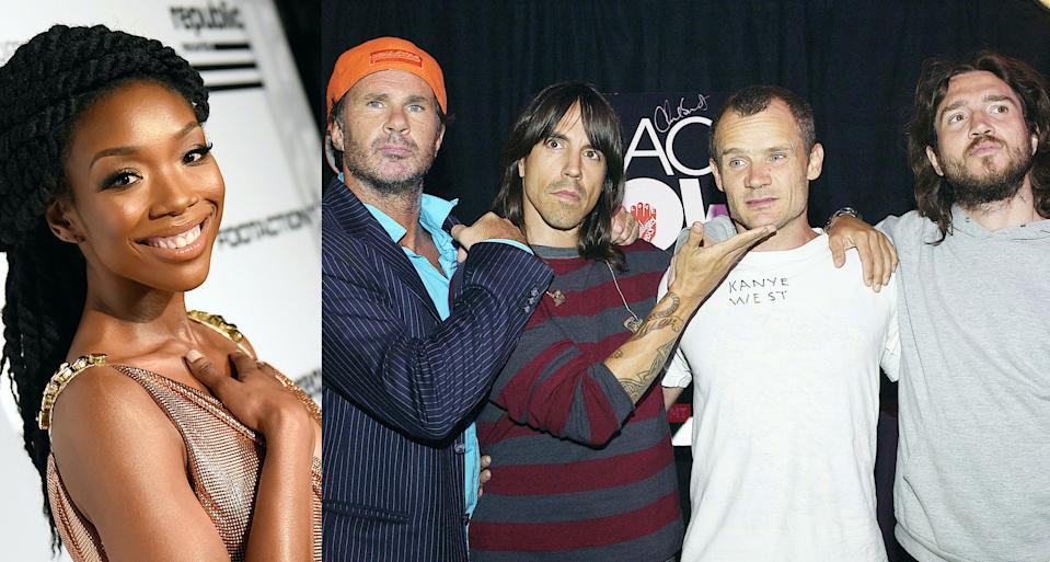 Brandy has heard that Red Hot Chili Peppers guitarist John Frusciante, far right, is a fan of her work. (Photo: Getty Images)