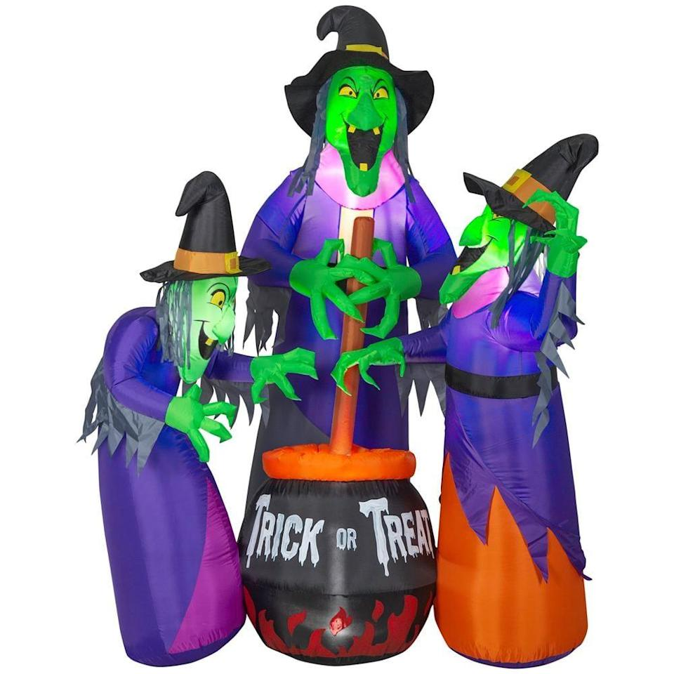 <p>We have a feeling the Sanderson sisters would adore this creepy <span>Fire and Ice Witches With Cauldron Airblown Projection Inflatable</span> ($179), complete with a cauldron!</p>