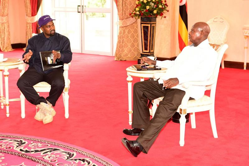 President Museveni said they held 'fruitful' conversations (REUTERS)
