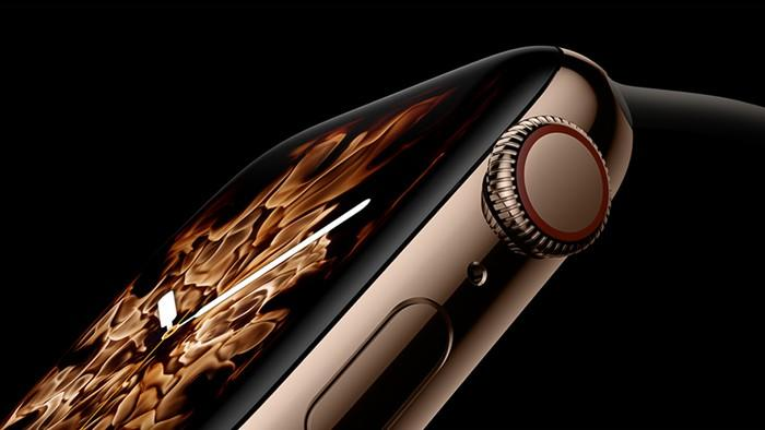 Side view of Apple Watch Series 4