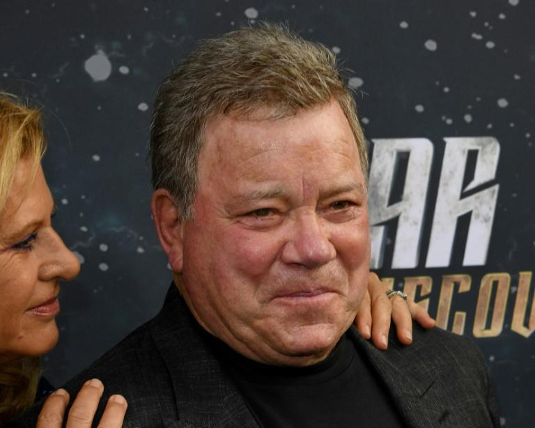 """""""I've heard about space for a long time now. I'm taking the opportunity to see it for myself. What a miracle,"""" said William Shatner (AFP/Mark RALSTON)"""