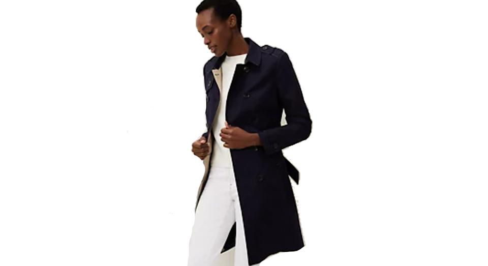 PHASE EIGHT Cotton Belted Double Breasted Trench Coat