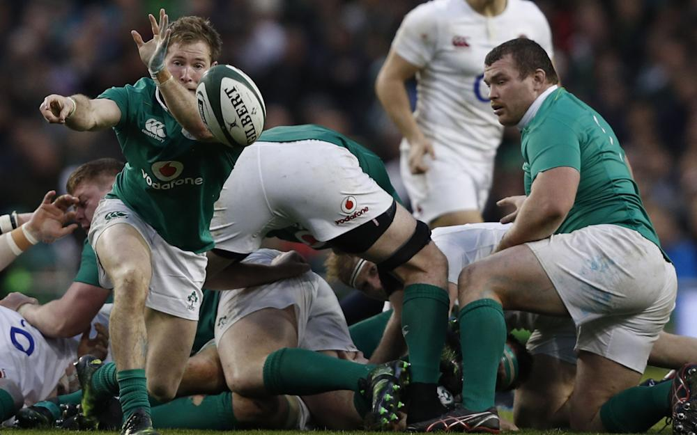 Ireland's scrum-half Kieran Marmion  - Credit: AFP