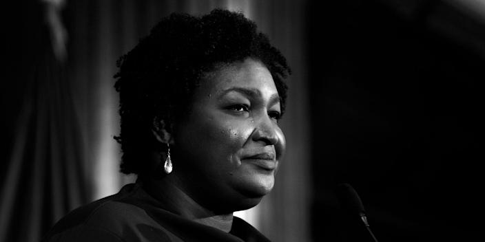 Stacey Abrams, former Georgia House Democratic Leader, speaks to attendees at the National Press Club Headliners Luncheon in Washington, D.C